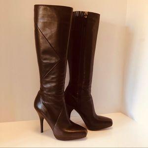 Via Spiga V Storm Chocolate Brown Tall Boot, Sz 6